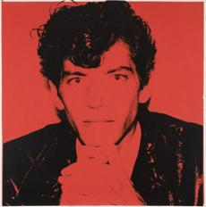 "Andy Warhol's ""Robert Mapplethorpe,"" from 1983."